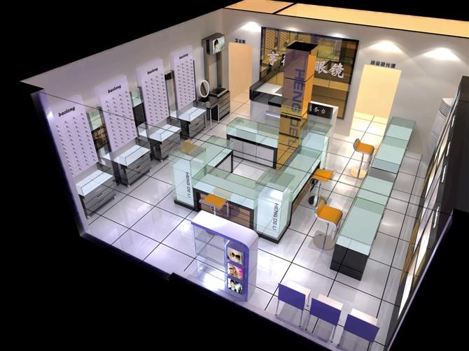 专业眼镜店装修效果图设计 厦门东正致远装饰有限公司