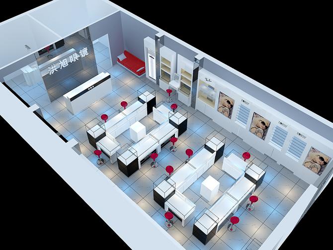 眼镜柜台,商业店铺装修,眼镜店设计,眼镜店装潢,专业眼镜店