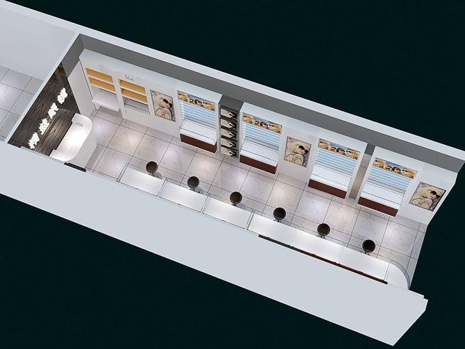 眼镜店装修案例效果图 柜台展示制作图 厦门东正致远装饰有限